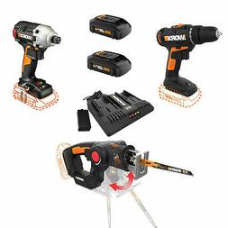 WORX 20 Volt WX911L Combo Kit with Power Drill, Impact Drive