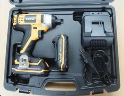 20V Cordless Impact Driver 1/4 Led with 2 Lithium Ion Batter