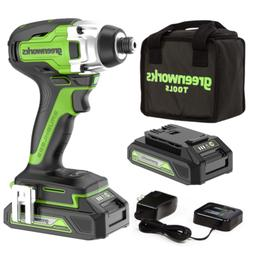 GreenWorks 24V Cordless Impact Driver 1/4 in with 1.5Ah Batt