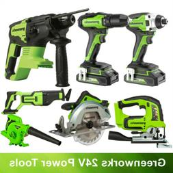 Greenworks 24V MAX Impact Driver Cordless Drill Brushless Co