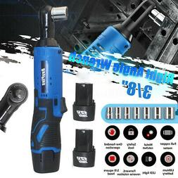 """3/8"""" 65N.m 12V Electric Cordless Ratchet Right Angle Wrench"""