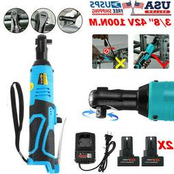 42V 100Nm 3/8'' Electric Cordless Ratchet Right Angle Wrench