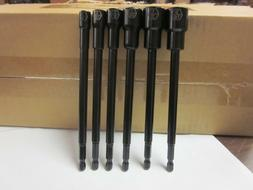 "6pc IMPACT READY 6"" MAGNETIC NUTSETTER 1/4 5/16 3/8 7/16 1/2"