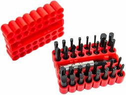 ARES 70109-33-Piece Impact Driver Bit Set - Includes 32 1/4""