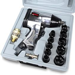 PowRyte 17pcs 1/2-Inch Air Impact Wrench Set with Impact Soc