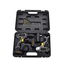 Toolman Cordless Drill Driver & Impact wrench set 2pc Powerf