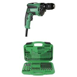 """Hitachi D10VH2 7.0 Amp 3/8"""" Variable Speed Drill/Driver and"""