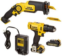 DEWALT DCK212S2 12-Volt MAX Drill Driver and Reciprocating S