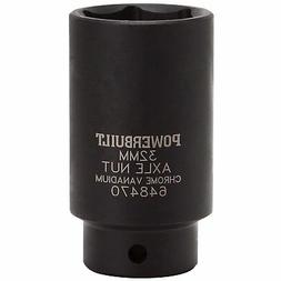Powerbuilt 648470 1/2-Inch Driver by 32mm Axle Nut Socket