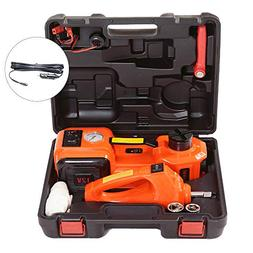 KINGCAV Electric Hydraulic Car Jack with Impact Wrench, 5 To