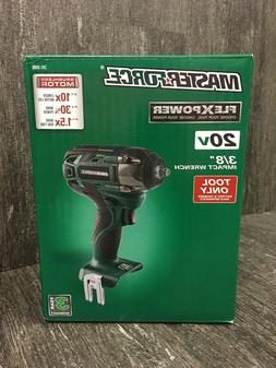 """Masterforce FlexPower 20V 3/8"""" Impact Wrench Driver w Clip,"""