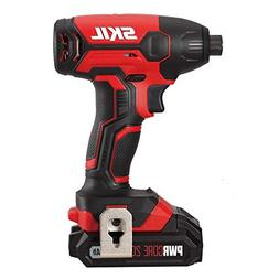 SKIL 20V 1/4 Inch Hex Cordless Impact Driver, Includes 2.0Ah