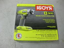 "Ryobi 18-Volt 3-Speed 1/4"" Impact Driver - Tool Only"