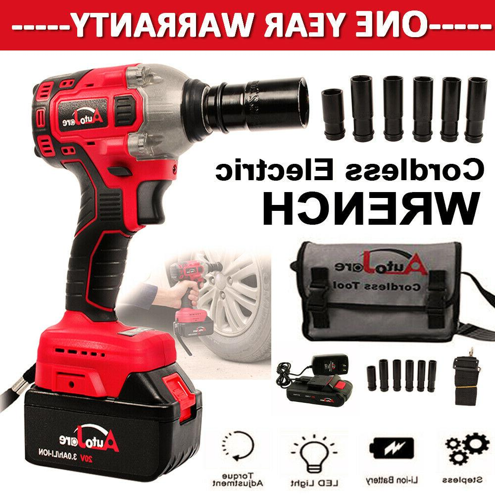 New cordless impact wrench 1/2 inch battery charger powerful