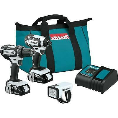 Makita CT322W 18V LXT Lithium-Ion Compact Cordless 3-Pc. Com
