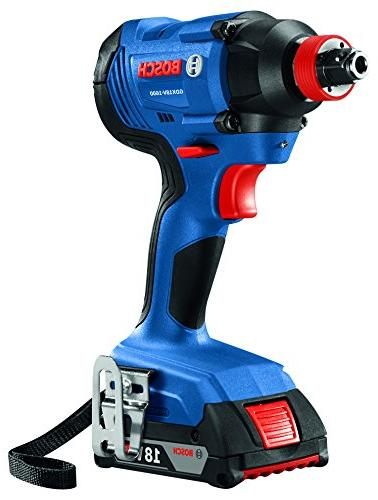 Bosch GXL18V-232B22 18V 2-Tool Compact Tough Drill/Driver, In. and In. Two-In-One Impact Driver and