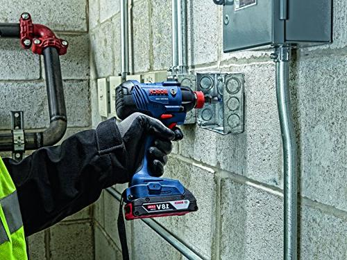 Bosch GXL18V-232B22 Kit Compact Tough Drill/Driver, In. and Two-In-One Bit/Socket Impact and Ah