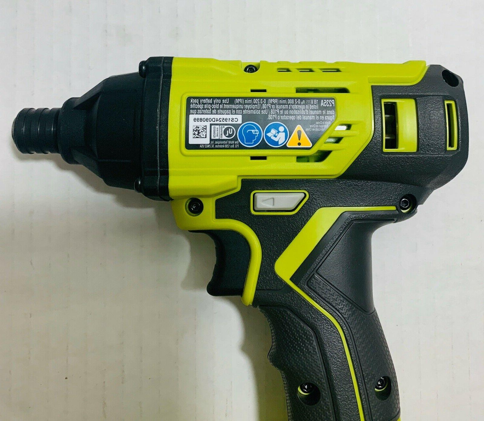New RYOBI ONE+ Driver with bit P235A, from