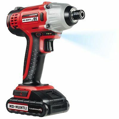 Powerbuilt 20V Lithium-Ion Cordless Impact Driver 1590 in-lb