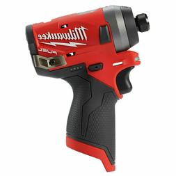 New Milwaukee M12 12 Volt Brushless FUEL Hex Impact Driver #