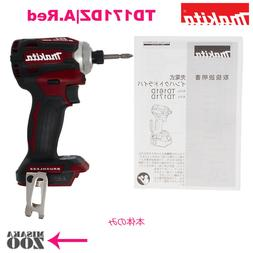 Makita TD171DZ Red  Impact driver  from japan body only 18V